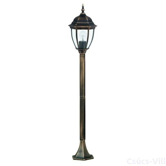 Toronto kültéri lámpa álló1,3mE27 100Wa.ar IP44