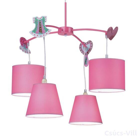 Carousel gyermek függeszték 4xe14/40w pink ø65cm
