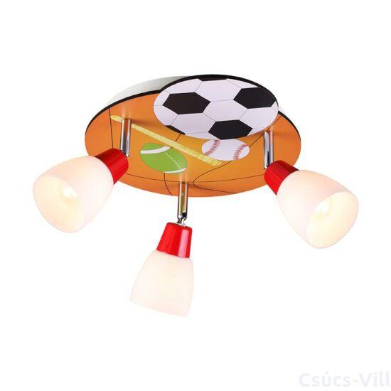 Ballin gyermek mennyezet lámpa - focis  3xe14/40w ø32cm ↕19cm