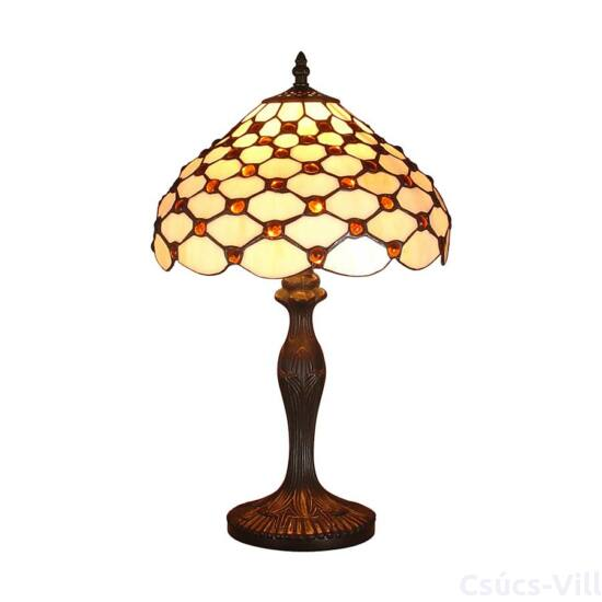 Tiffany asztali lámpa 1xe27/60w gyöngyös