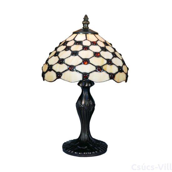 Tiffany asztali lámpa 1xe14/40w gyöngyös ø20cm