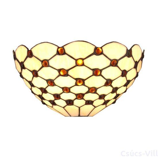 Tiffany falikar 1xe14/40w gyöngyös ø31cm