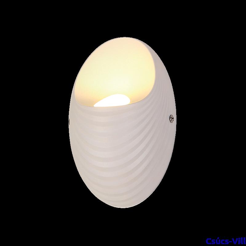 Shell Led Fali Lámpa Fehér - Elmark