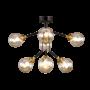 Kép 1/2 - Bubbles Csillár 8  Borostyán Üveg - Elmark