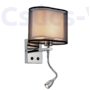 Kép 1/2 - Mery Fali Lámpa 1Xe27 +1Wled 4000K Króm -Elmark
