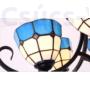 Kép 2/7 - Tiffany modern csillár kék - 4 búrával  - Stl