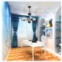 Kép 3/8 - Tiffany modern csillár kék - 6 búrával  - Stl -